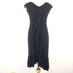Bailey 44 Size S  Ruffle Belted Dress Black